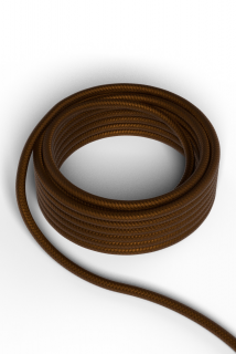 Kábel Calex fabric cable 2x0,75qmm 3M brown, max.250V-60W