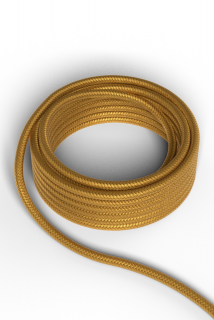 Kábel Calex fabric cable 2x0,75qmm 3M gold, max.250V-60W