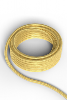 Kábel Calex fabric cable 2x0,75qmm 3M metallic gold, max.250V-60W