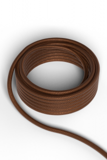 Kábel Calex fabric cable 2x0,75qmm 3M metallic brown, max.250V-60W