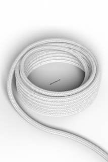 Kábel Calex fabric cable 2x0,75qmm 1,5M white, max.250V-60W