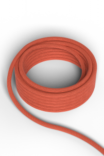 Kábel Calex fabric cable 2x0,75qmm 1,5M orange, max.250V-60W