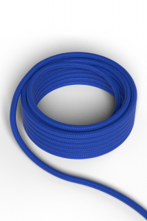 Kábel Calex fabric cable 2x0,75qmm 1,5M blue, max.250V-60W