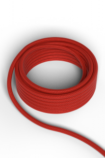 Kábel Calex fabric cable 2x0,75qmm 1,5M red, max.250V-60W