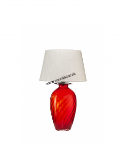 Stolná lampa ELIOS Red / Cocco Bianco H67