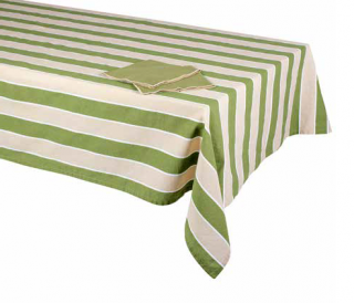 PAMUKKALE Green stripes obrus 140x180 cm