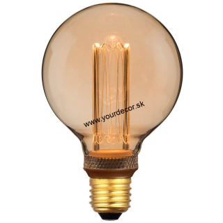 Žiarovka LED G95-2,3W RETRO Gold E27 DIMM