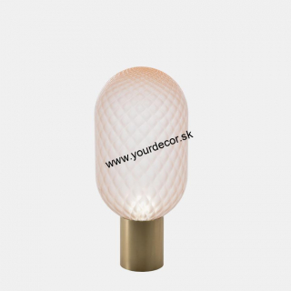 Stolná lampa BLOOM D20, PINK SATIN